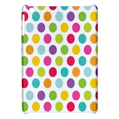 Polka Dot Yellow Green Blue Pink Purple Red Rainbow Color Apple Ipad Mini Hardshell Case by Mariart