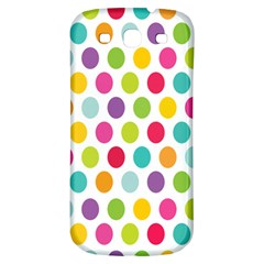Polka Dot Yellow Green Blue Pink Purple Red Rainbow Color Samsung Galaxy S3 S Iii Classic Hardshell Back Case by Mariart