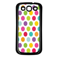 Polka Dot Yellow Green Blue Pink Purple Red Rainbow Color Samsung Galaxy S3 Back Case (black) by Mariart