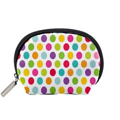 Polka Dot Yellow Green Blue Pink Purple Red Rainbow Color Accessory Pouches (small)  by Mariart