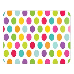 Polka Dot Yellow Green Blue Pink Purple Red Rainbow Color Double Sided Flano Blanket (large)  by Mariart