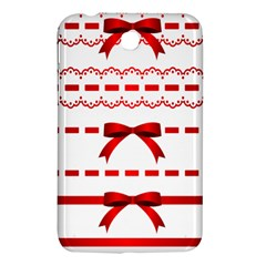 Ribbon Red Line Samsung Galaxy Tab 3 (7 ) P3200 Hardshell Case  by Mariart