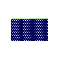 Rainbow Polka Dot Borders Colorful Resolution Wallpaper Blue Star Cosmetic Bag (xs) by Mariart
