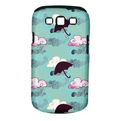 Rain Clouds Umbrella Blue Sky Pink Samsung Galaxy S Iii Classic Hardshell Case (pc+silicone) by Mariart