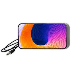 Wave Waves Chefron Color Blue Pink Orange White Red Purple Portable Speaker (black) by Mariart