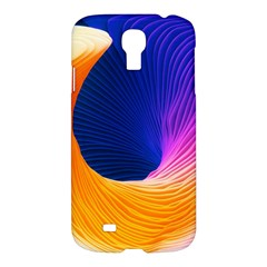 Wave Waves Chefron Color Blue Pink Orange White Red Purple Samsung Galaxy S4 I9500/i9505 Hardshell Case by Mariart