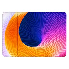 Wave Waves Chefron Color Blue Pink Orange White Red Purple Samsung Galaxy Tab 8 9  P7300 Flip Case by Mariart