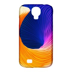 Wave Waves Chefron Color Blue Pink Orange White Red Purple Samsung Galaxy S4 Classic Hardshell Case (pc+silicone) by Mariart