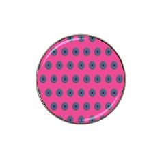Polka Dot Circle Pink Purple Green Hat Clip Ball Marker (10 Pack) by Mariart