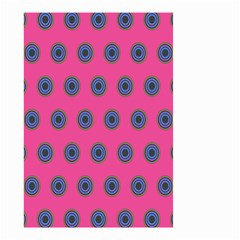 Polka Dot Circle Pink Purple Green Small Garden Flag (two Sides) by Mariart