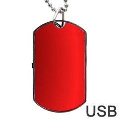 Red Gradient Fractal Backgroun Dog Tag Usb Flash (two Sides) by Simbadda