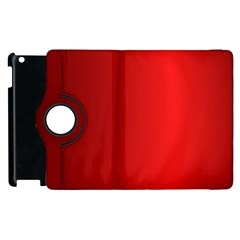 Red Gradient Fractal Backgroun Apple Ipad 3/4 Flip 360 Case by Simbadda