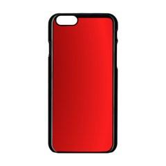 Red Gradient Fractal Backgroun Apple Iphone 6/6s Black Enamel Case by Simbadda
