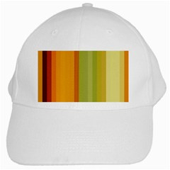 Colorful Citrus Colors Striped Background Wallpaper White Cap by Simbadda