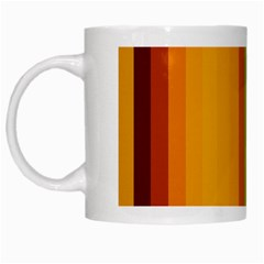 Colorful Citrus Colors Striped Background Wallpaper White Mugs by Simbadda