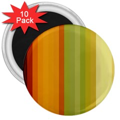 Colorful Citrus Colors Striped Background Wallpaper 3  Magnets (10 Pack)  by Simbadda