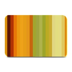 Colorful Citrus Colors Striped Background Wallpaper Plate Mats by Simbadda