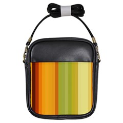 Colorful Citrus Colors Striped Background Wallpaper Girls Sling Bags by Simbadda