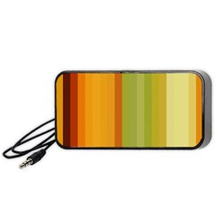 Colorful Citrus Colors Striped Background Wallpaper Portable Speaker (Black) by Simbadda