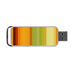 Colorful Citrus Colors Striped Background Wallpaper Portable Usb Flash (one Side) by Simbadda
