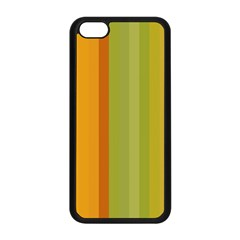 Colorful Citrus Colors Striped Background Wallpaper Apple Iphone 5c Seamless Case (black) by Simbadda