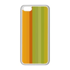 Colorful Citrus Colors Striped Background Wallpaper Apple Iphone 5c Seamless Case (white) by Simbadda