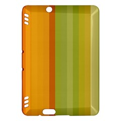 Colorful Citrus Colors Striped Background Wallpaper Kindle Fire Hdx Hardshell Case by Simbadda
