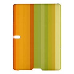 Colorful Citrus Colors Striped Background Wallpaper Samsung Galaxy Tab S (10 5 ) Hardshell Case  by Simbadda