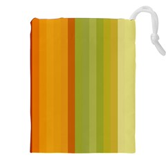 Colorful Citrus Colors Striped Background Wallpaper Drawstring Pouches (XXL) by Simbadda