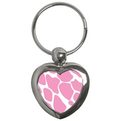 Baby Pink Girl Pattern Colorful Background Key Chains (heart)  by Simbadda