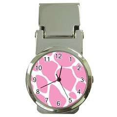Baby Pink Girl Pattern Colorful Background Money Clip Watches by Simbadda