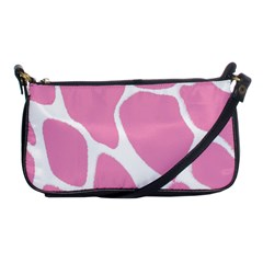 Baby Pink Girl Pattern Colorful Background Shoulder Clutch Bags by Simbadda