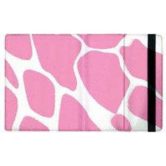 Baby Pink Girl Pattern Colorful Background Apple Ipad 3/4 Flip Case by Simbadda