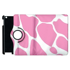 Baby Pink Girl Pattern Colorful Background Apple Ipad 3/4 Flip 360 Case by Simbadda