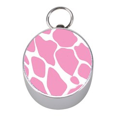 Baby Pink Girl Pattern Colorful Background Mini Silver Compasses by Simbadda