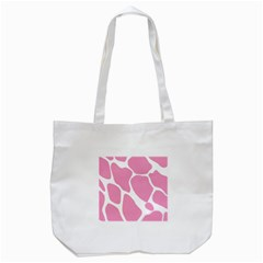 Baby Pink Girl Pattern Colorful Background Tote Bag (white) by Simbadda