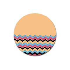 Chevrons Patterns Colorful Stripes Background Art Digital Magnet 3  (round) by Simbadda
