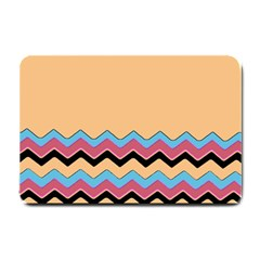 Chevrons Patterns Colorful Stripes Background Art Digital Small Doormat  by Simbadda