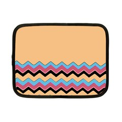 Chevrons Patterns Colorful Stripes Background Art Digital Netbook Case (small)  by Simbadda