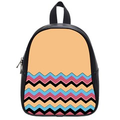 Chevrons Patterns Colorful Stripes Background Art Digital School Bags (small)  by Simbadda