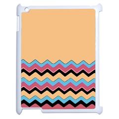 Chevrons Patterns Colorful Stripes Background Art Digital Apple Ipad 2 Case (white) by Simbadda