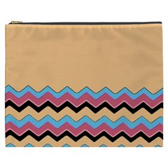 Chevrons Patterns Colorful Stripes Background Art Digital Cosmetic Bag (xxxl)  by Simbadda
