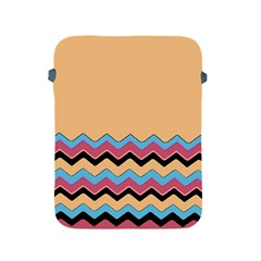 Chevrons Patterns Colorful Stripes Background Art Digital Apple Ipad 2/3/4 Protective Soft Cases by Simbadda