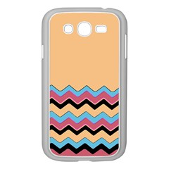 Chevrons Patterns Colorful Stripes Background Art Digital Samsung Galaxy Grand Duos I9082 Case (white) by Simbadda