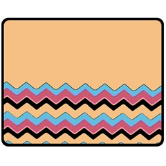 Chevrons Patterns Colorful Stripes Background Art Digital Double Sided Fleece Blanket (medium)  by Simbadda