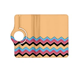 Chevrons Patterns Colorful Stripes Background Art Digital Kindle Fire Hd (2013) Flip 360 Case by Simbadda