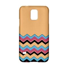 Chevrons Patterns Colorful Stripes Background Art Digital Samsung Galaxy S5 Hardshell Case  by Simbadda