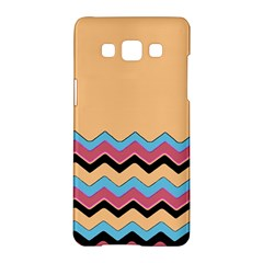 Chevrons Patterns Colorful Stripes Background Art Digital Samsung Galaxy A5 Hardshell Case  by Simbadda
