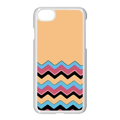 Chevrons Patterns Colorful Stripes Background Art Digital Apple Iphone 7 Seamless Case (white) by Simbadda