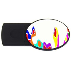 Simple Abstract With Copyspace Usb Flash Drive Oval (4 Gb) by Simbadda